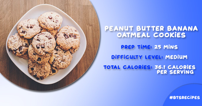 Peanut Butter and Banana Oatmeal Cookies